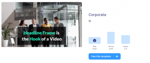choose the screen ration in invideo