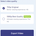 choosing invideo video quality